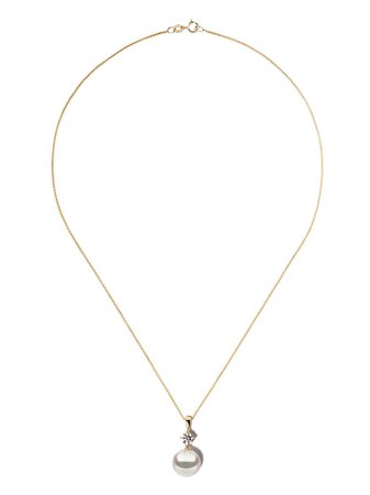 Yoko London 18kt Yellow Gold Classic South Sea Pearl And Diamond Pendant Necklace - Farfetch