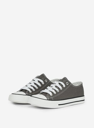 Grey 'Icon' Trainers | Dorothy Perkins