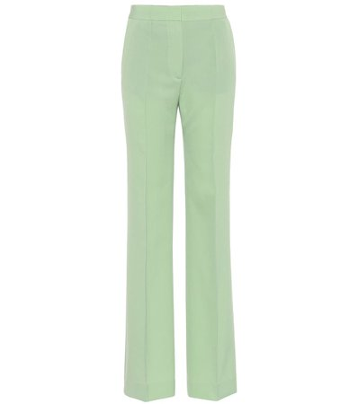 High-Rise Slim Wool-Blend Pants