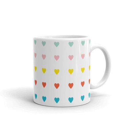 COLORFUL HEARTS MugLoveValentine GiftGalentineModernGift | Etsy