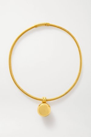 Gold Gold-tone necklace | Bottega Veneta | NET-A-PORTER