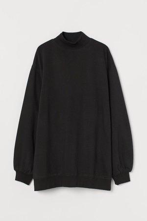 Oversized Sweatshirt - Black