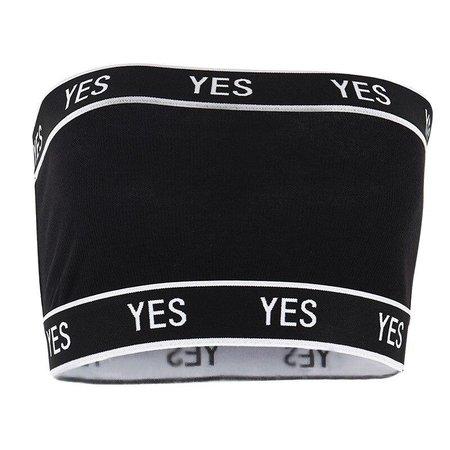 yes black tube top