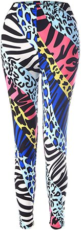 Amazon.com: SATINIOR Soft Printed Leggings 80s Style Neon Leggings Pants with Assorted Designs for Women and Girls: Clothing