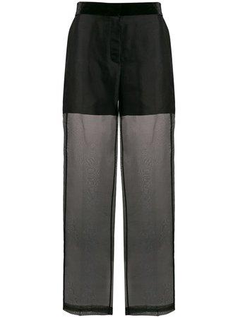 Helmut Lang High Rise Sheer Trousers | Farfetch.com