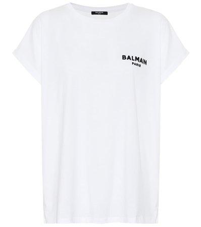 Logo Cotton-Jersey T-Shirt - Balmain | Mytheresa
