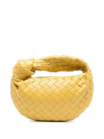 Shop yellow Bottega Veneta The Mini Jodie tote bag with Express Delivery - Farfetch