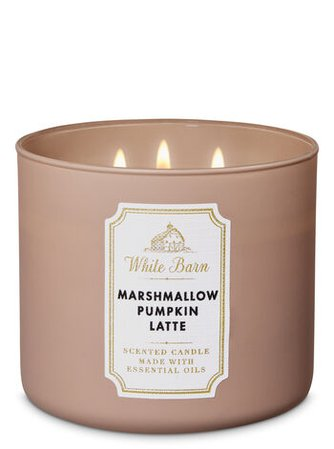Marshmallow Pumpkin Latte 3-Wick Candle | Bath & Body Works