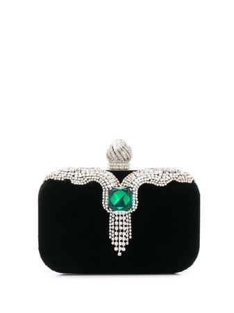 Jimmy Choo, Cloud Clutch with Emerald