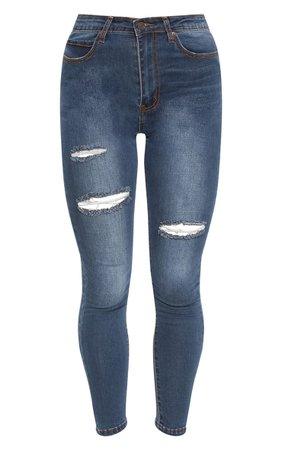Dirty Vintage Distressed Skinny Jean | PrettyLittleThing
