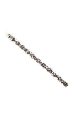 Amrapali 18K Gold Iolite And Diamond Bracelet