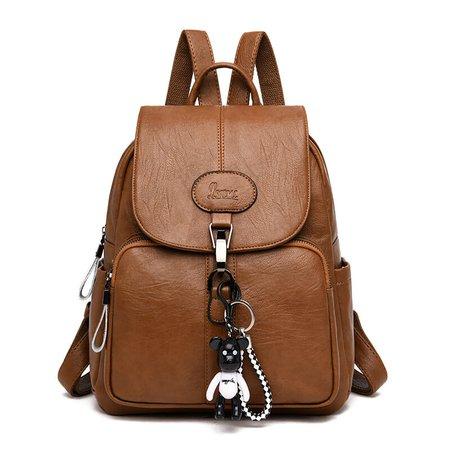 Black Brown Soft Backpack Pu Leather Vintage Women Bagpack – Rockin Docks Deluxephotos