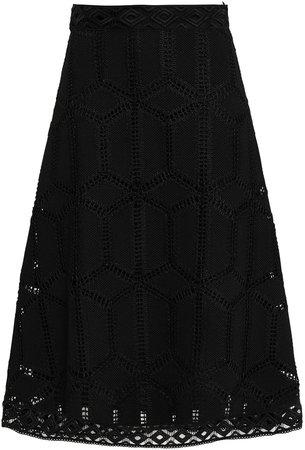 Rosario Macrame Lace Midi Skirt