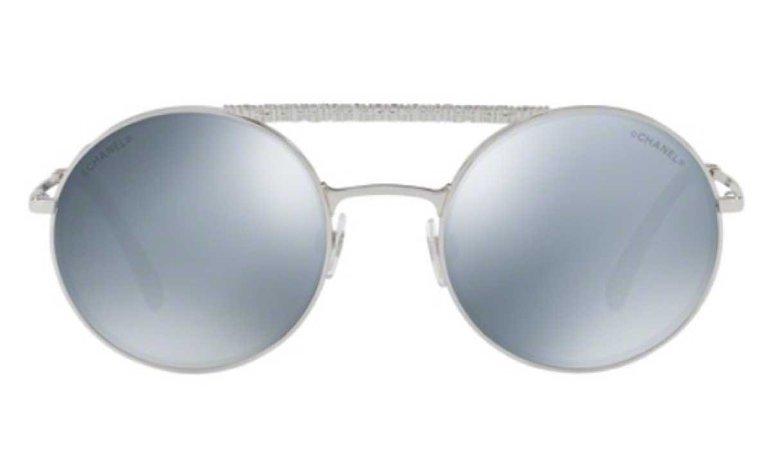 Chanel Round Silber Sunglasses