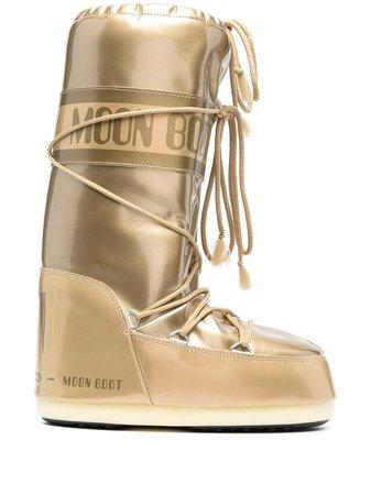 Moon Boot Icon metallic snow boots - FARFETCH