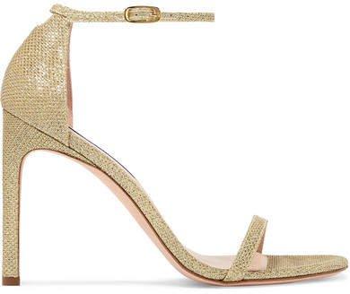 Nudistsong Lamé Sandals - Gold