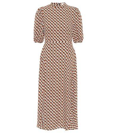 Diane von Furstenberg, Nella printed crêpe midi dress