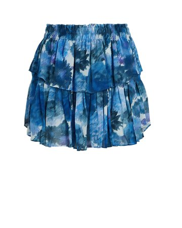 LoveShackFancy Printed Ruffle Mini Skirt | INTERMIX®