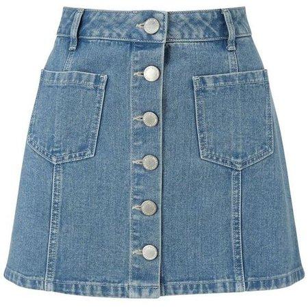 Miss Selfridge Petites blue denim mini skirt