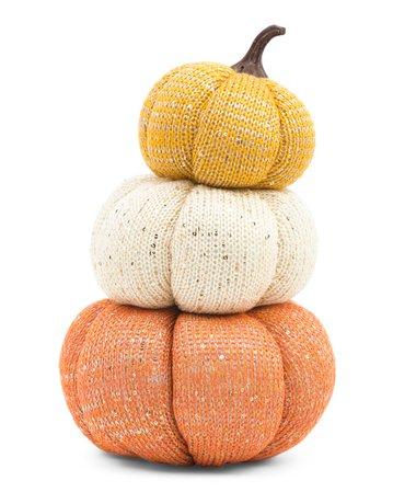 11in Fabric Stack Of Pumpkins Decor - Fall Decor - T.J.Maxx