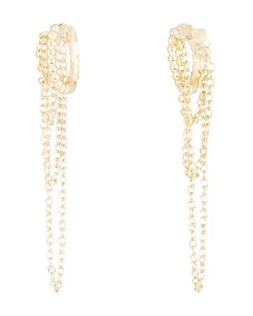 SHASHI Adisa Chain-Link Huggie Hoop Earrings   INTERMIX®