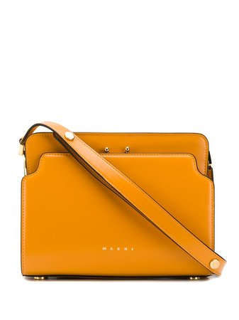 Shop yellow Marni Trunk Reverse shoulder bag with Express Delivery - Farfetch
