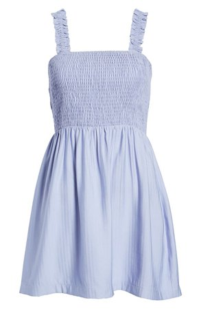 NSR Julia Sleeveless Smocked Ruffle Minidress | Nordstrom
