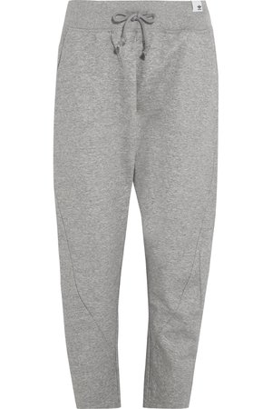 adidas Originals | XbyO cropped cotton-jersey track pants | NET-A-PORTER.COM
