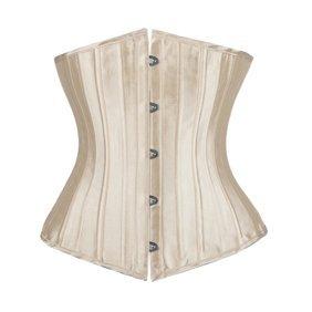 vintage jacquard underbust corset