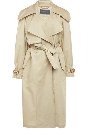 Alberta Ferretti Belt Gabardine Trench Coat