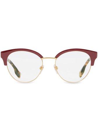 Burberry Cat-Eye Frame Glasses Aw20 | Farfetch.Com