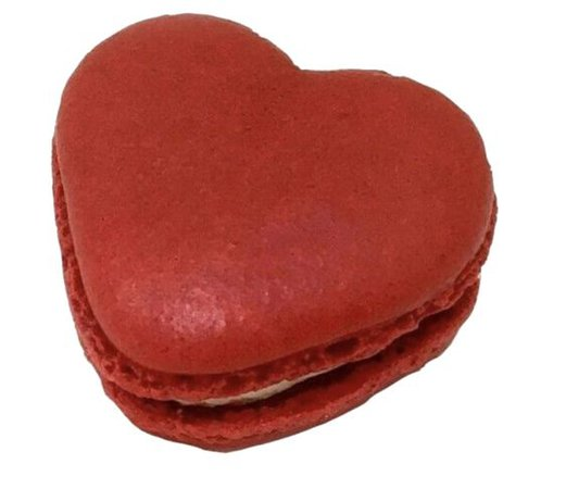 Red heart macaron