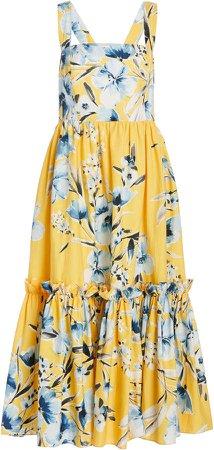 Cara Cara Julia Ruffle Tier Midi Dress