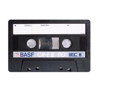 Cassette Tape Black Filler png
