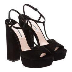 miu miu black heels