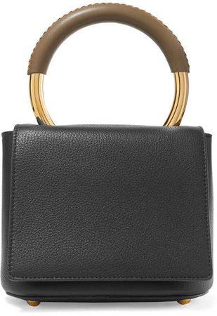 Pannier Textured-leather Tote - Black