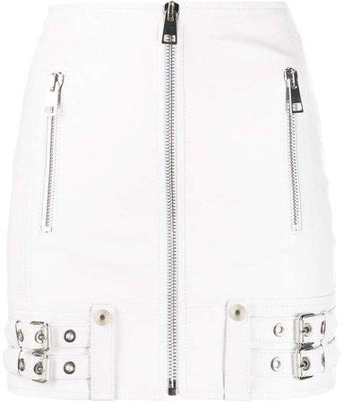 Manokhi buckle-detail biker skirt