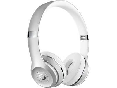 Beats Solo³ On-Ear Wireless Headphones - Satin Silver