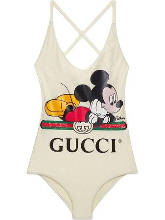 Gucci X Disney Mickey Print Swimsuit Ss20 | Farfetch.com