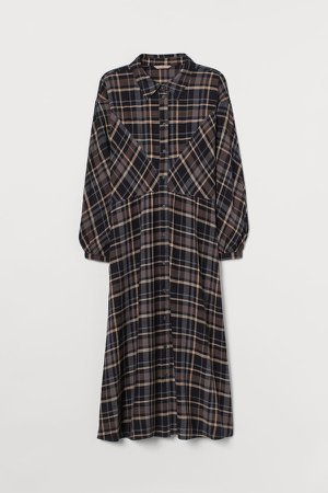 H&M+ Shirt Dress - Black
