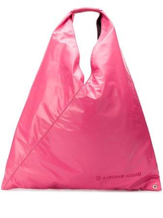 Pink Mm6 Maison Margiela Medium Japanese Tote | Farfetch.com
