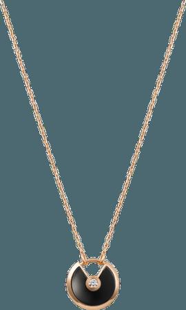 Cartier, Amulette de Cartier necklace, small model - Pink gold, onyx, diamond