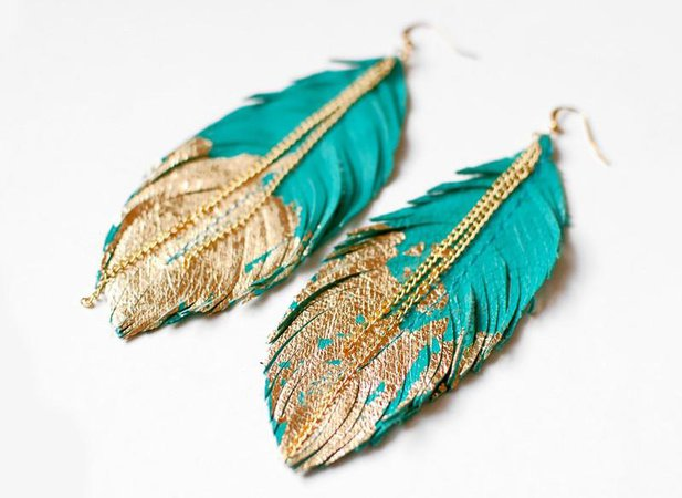 Feather Boho Earrings – Boho Chic Kabuki Theme