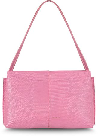 Mini Carly Embossed Leather Shoulder Bag