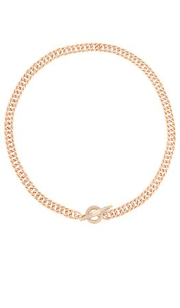 Ettika Embellished Toggle Necklace in Gold | REVOLVE