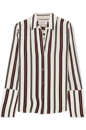 FRAME   Striped silk blouse   NET-A-PORTER.COM