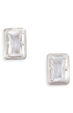 Anzie White Topaz Baguette Stud Earrings | Nordstrom