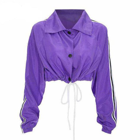 Cropped Purple Drawstring Jacket | Shop Minu | Korean and Aesthetic fashion