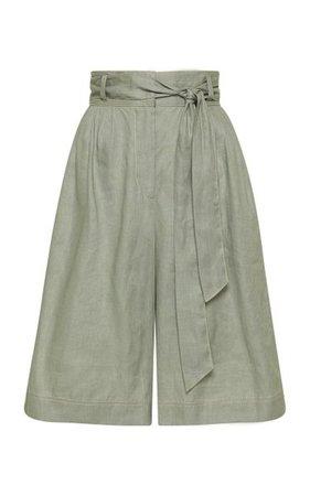 Ivy Belted Linen Shorts By Alémais | Moda Operandi