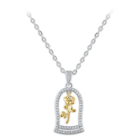 Enchanted Rose Swarovski Crystal Necklace – Beauty and the Beast   shopDisney